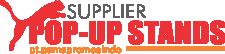 Supplier popup counter- backdrop Portable & evend esk portable